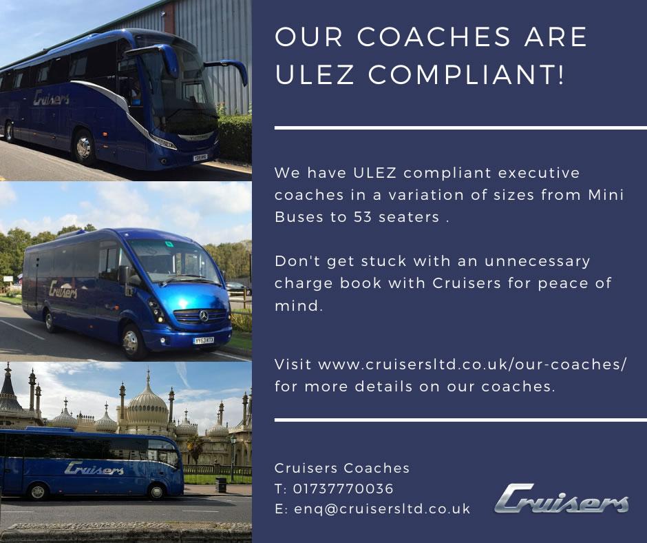 Our coaches are ULEZ compliant