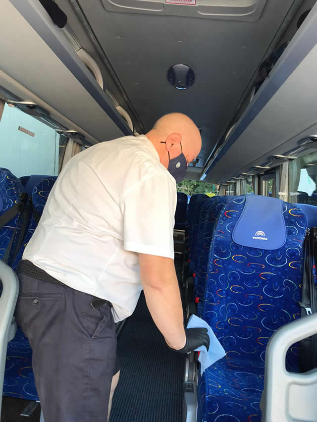 Cleaning Down Our Coaches